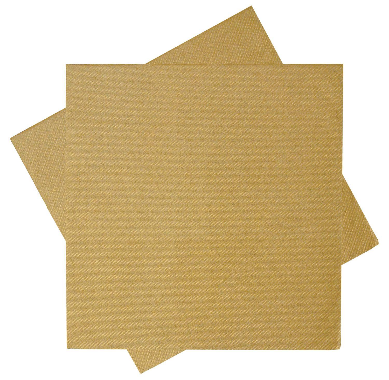 Servietten Tischdeko Gold Goldhochzeit Kommunion Konfirmation Hochzeit 40x40 cm 25 Stück