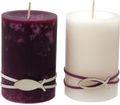 Kerzen Stumpenkerzen Tischdeko Kommunion Konfirmation Creme Erika Beere Fisch 2 Stück 1