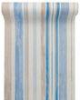 3m Tischband Leinen Streifen Stoff Blau Beige Tischläufer Maritim Deko Kommunion Konfirmation 1