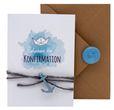 Einladungskarte Kommunion Konfirmation Taufe Karte Einladung Karte Umschlag Kraft Natur Boot Schiff Siegel 3