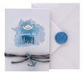 Einladungskarte Kommunion Konfirmation Taufe Karte Einladung Karte Umschlag Weiß Natur Boot Schiff Siegel 4