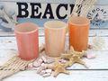 3 Teelichthalter Teelichtgläser Rosa Apricot Tischdeko Deko Sommer Geburtstag Party 2