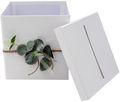 Briefbox Kartenbox Hochzeit Eukalyptus Kommunion Konfirmation Geburtstag Greenery Vintage Spitze 3