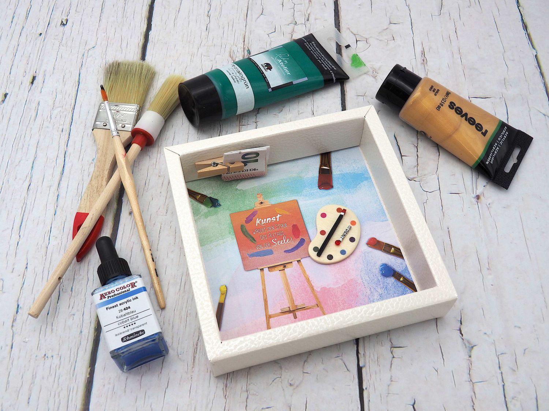 Geldgeschenk Verpackung Malen Kunst Basteln Kreativität Geburtstag Künstler