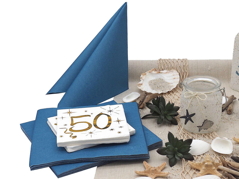 Tischdeko 50. Geburtstag Maritim Deko Sommer Strand Partydeko Mottoparty 12 Personen SET