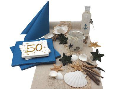 Tischdeko 50. Geburtstag Maritim Deko Sommer Partydeko SET