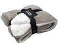 Decke Kuscheldecke Taupe Lammfelloptik Tagesdecke Deko Fleece Plaid 1