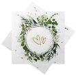 Servietten Blätter Floral Herzen Tischdeko Vintage Hochzeit Geburtstag Partydeko 20 Stück 1