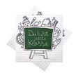 """Servietten Kaffeeserviette Einschulung Schulanfang Schule """"Du bist erste Klasse"""" Erster Schultag Tischdeko 20 Stück 1"""