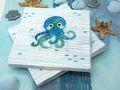 Kindergeburtstag Tischdeko Krake Oktopus Maritime Deko Türkis Mint Blau Sommer Party 20 Personen SET  2