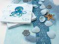 Kindergeburtstag Tischdeko Krake Oktopus Maritime Deko Türkis Mint Blau Sommer Party 20 Personen SET  3