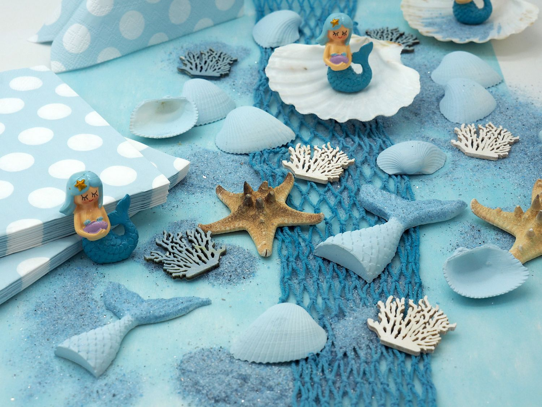 Kindergeburtstag Tischdeko Meerjungfrau Blau Mädchen Party Deko Geburtstag 20 Personen SET