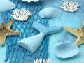 Kindergeburtstag Tischdeko Meerjungfrau Blau Mädchen Party Deko Geburtstag 20 Personen SET 5