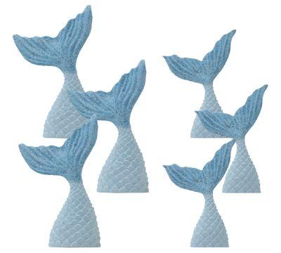 Tischdeko Kindergeburtstag Meerjungfrau Flosse Blau Motto Party Mädchen 6 Stück