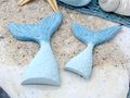 Tischdeko Kindergeburtstag Meerjungfrau Flosse Blau Motto Party Mädchen 6 Stück Nixe Meerjungfrauenflossen 4