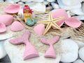 Tischdeko Kindergeburtstag Meerjungfrau Flosse Rosa Motto Party Mädchen 6 Stück Nixe Meerjungfrauenflossen 3