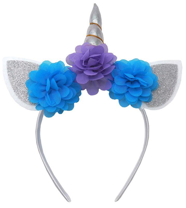 Einhorn Haarreif Kopfschmuck Kinder Kindergeburtstag Party Kostüm Tiara Diadem