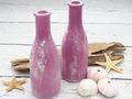 Vase Tischdeko Glasflasche Fuchsia Beere Lila Vintage Deko 2 Stück 2