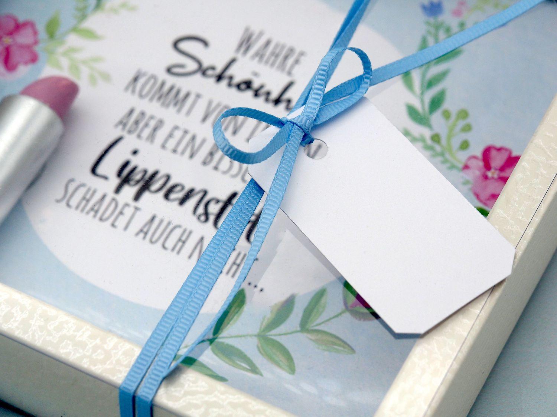 Geldgeschenk Verpackung Kosmetik Make Up Schminke Lippenstift Geburtstag Gutschein Weihnachten