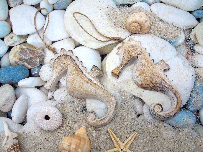 Seepferdchen Holz Anhänger Deko Maritim Figur Hängedeko Maritime Deko
