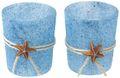 Kerzenhalter Teelichthalter Maritim Blau Seestern Tischdeko Teelichtgläser Deko Sommer 2 Stück 1