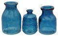 3 Vasen Blumenvasen Glas Blau Dunkelblau Mix Tischdeko Maritime Deko Terrasse Balkon Sommer Garten 2