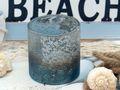 Kerzenhalter Teelichthalter Glas Weihnachtsdeko Maritime Deko Weihnachten Türkis Silber 2