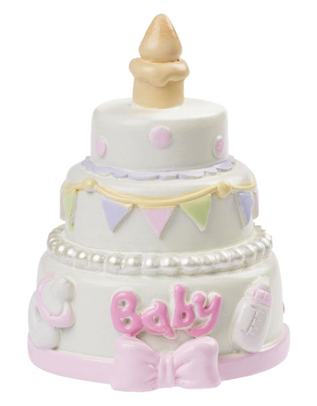 Deko Figur Tortendeko Tortenfigur Baby Mädchen Rosa Deko Tischdeko Taufe Geburt