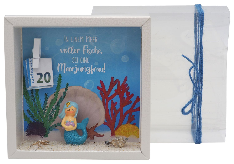 Geldgeschenk Verpackung Meerjungfrau Nixe Geburtstag Kindergeburtstag