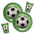 Tischdeko Kindergeburtstag Geburtstag Deko Fußball Sport Pappteller Pappbecher Partygeschirr 1