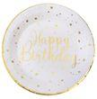 Tischdeko Geburtstag Happy Birthday Gold Pappteller Pappbecher Partygeschirr 2