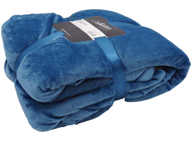 Decke Kuscheldecke Plaid Blau Wohndecke Lammfelloptik Tagesdecke Deko