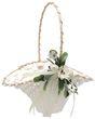 Blumenkörbchen Hochzeit Vintage Streukörbchen Creme Weiß Blumenkind INA 1