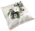 Ringkissen Hochzeit Vintage Creme Weiß Spitze Braut Traukissen INA 1
