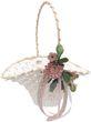 Blumenkörbchen Hochzeit Vintage Streukörbchen Creme Rosa  Blumenkind MIA 1