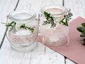 2 Windlichter Kerzenhalter Hochzeit Vintage Rosa Weiß Tischdeko Gläser Deko Geburtstag MARINA 3