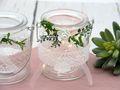 2 Windlichter Kerzenhalter Hochzeit Vintage Rosa Weiß Tischdeko Gläser Deko Geburtstag MARINA 4