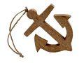 Deko Figur Anker Holz mit Aufhänger Natur Maritime Deko Meer Terrasse 18cm 1
