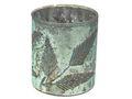 Windlicht Kerzenhalter Teelichthalter Mint Blätter Glas Advent Deko Weihnachten Herbst 1
