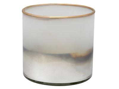 Windlicht Kerzenhalter Teelichthalter Kerzenglas Silber Gold Milchglas Advent Deko Weihnachten