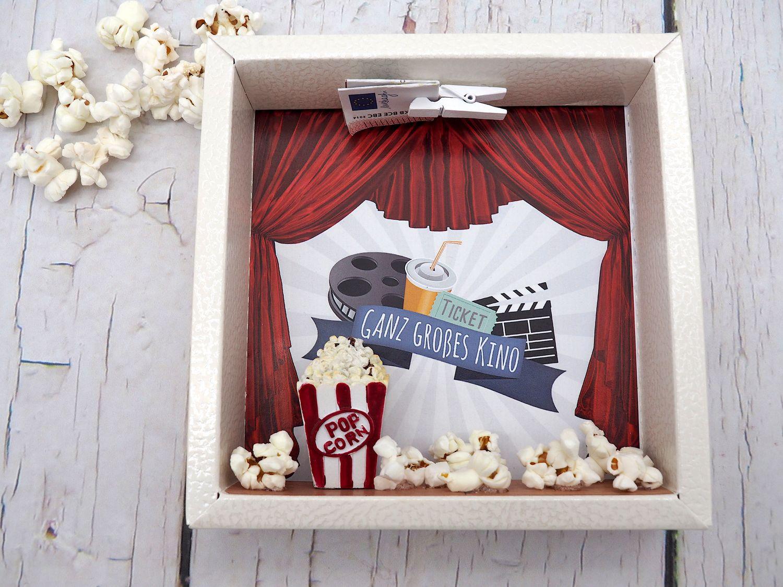 Geldgeschenk Verpackung Kino Groß Popcorn Kinogutschein Cinema