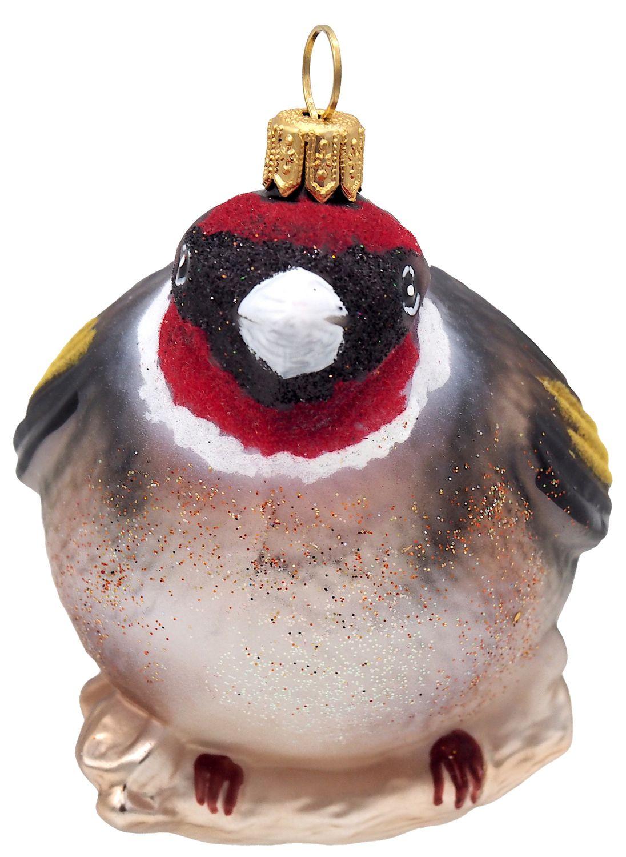 Christbaumschmuck Weihnachtsbaumschmuck Weihnachtsdeko Vogel Stieglitz Glas Weihnachten