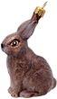 Christbaumschmuck Weihnachtsbaumschmuck Weihnachtsdeko Hase Kaninchen Braun Glas Weihnachten 1