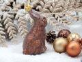Christbaumschmuck Weihnachtsbaumschmuck Weihnachtsdeko Hase Kaninchen Braun Glas Weihnachten 4