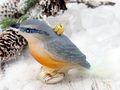 Christbaumschmuck Weihnachtsbaumschmuck Weihnachtsdeko Vogel Blau Gold Glas Weihnachten 2