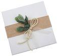 Geldgeschenk Verpackung Personalisiertes Geschenk Hochzeit Herz Weiß Eukalyptus Blätterkranz Mit Namen 5