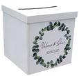 Briefbox Kartenbox Hochzeit Eukalyptus Blätterkranz Geburtstag Personalisiertes Geschenk 1