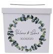 Briefbox Kartenbox Hochzeit Eukalyptus Blätterkranz Geburtstag Personalisiertes Geschenk 2