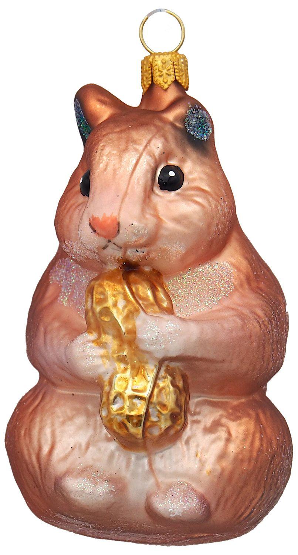 Weihnachtsbaumschmuck Christbaumschmuck Glas Weihnachtsdeko Hamster Kupfer Weihnachten