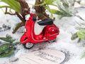 Weihnachtsbaumschmuck Christbaumschmuck Glas Weihnachtsdeko Roller Motorroller Moped Rot Weihnachten 3